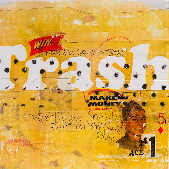 << WIN TRASH >>, {ths}, Mixed Media Collage on PAPER, 30x40cm, 2014